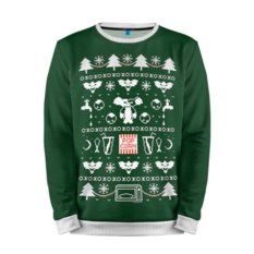 Мужской свитшот 3D Новогодний свитер Гремлины