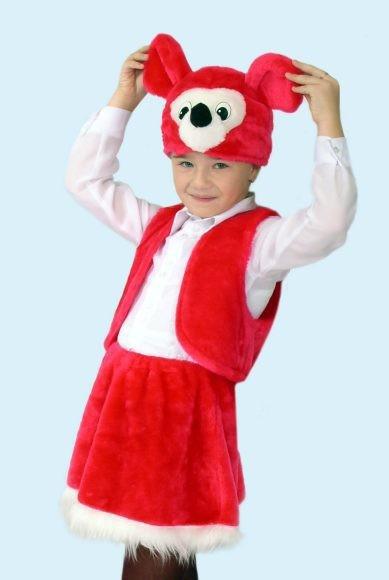 Карнавальный костюм Мышка (головной убор, жилет, юбка)
