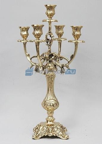 Пара канделябров на 5 свечей Совершенство (цвет — золото)