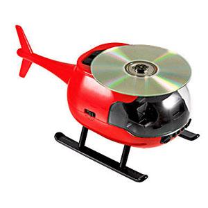 CD-плеер в виде вертолета