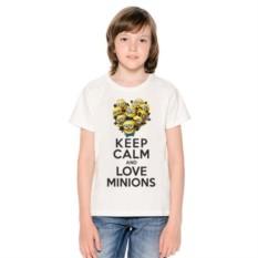 Детская футболка Keep calm and love minions