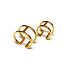 Двойные кольца на фаланги из позолоченного серебра