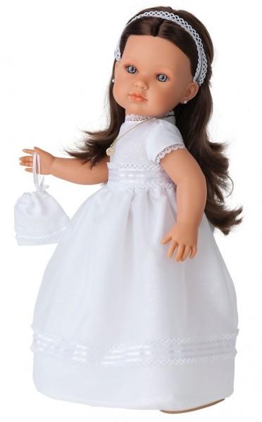 Кукла-девочка Брюнетка Белла. Первое причастие