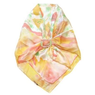 Платок шейный Джунгли с украшением из стекла