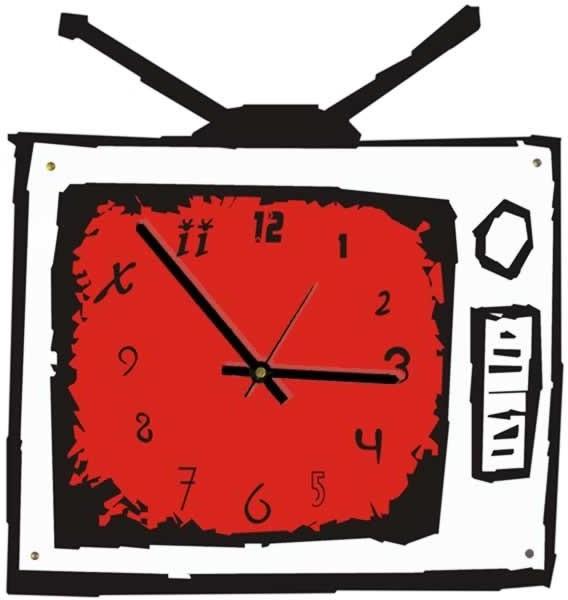Настенные часы Телевизор