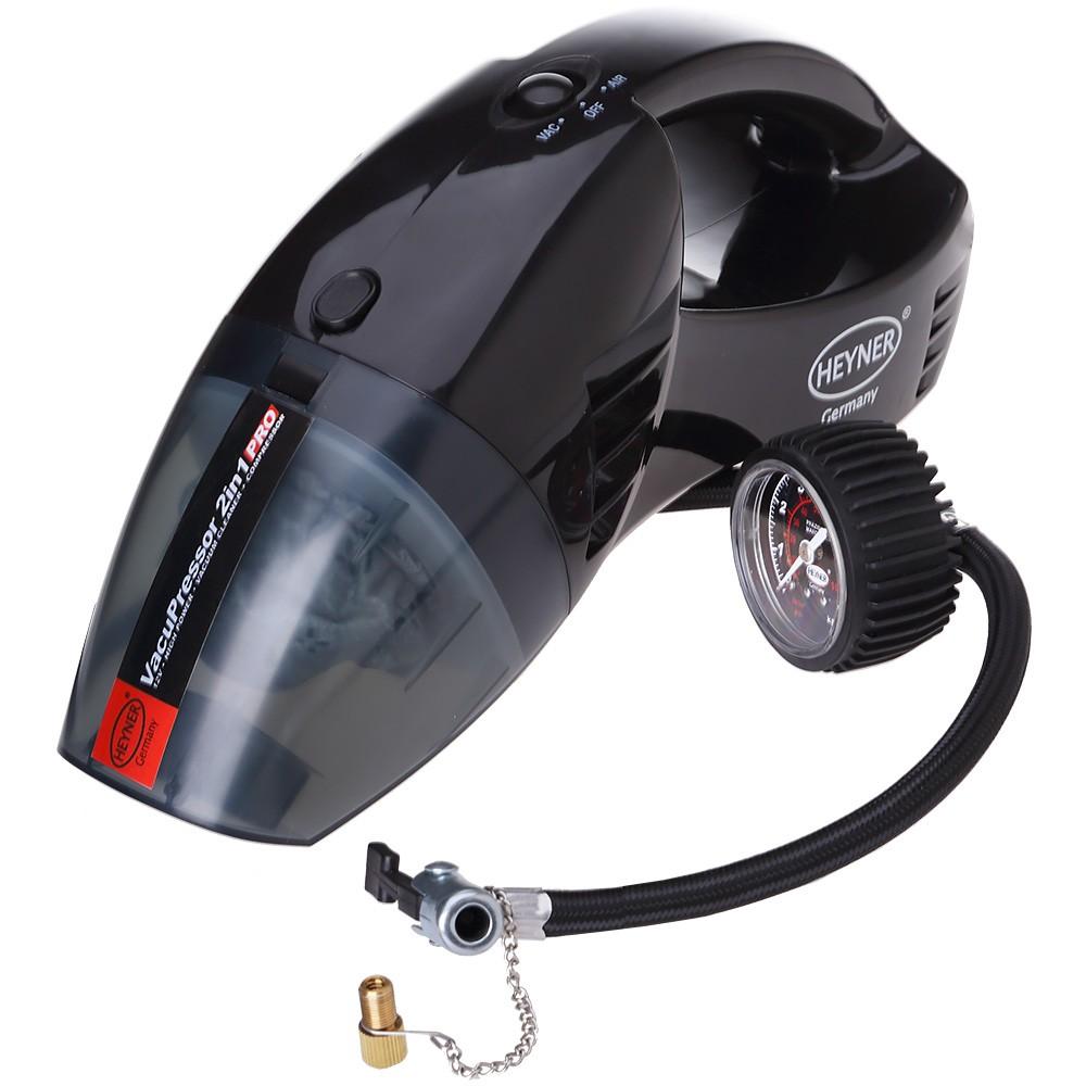 Автомобильный пылесос с компрессором (2 в 1)