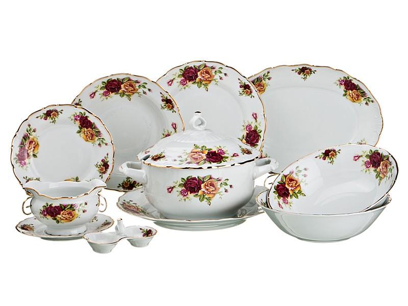 Столовый сервиз Английские розы на 6 персон, 26 предметов