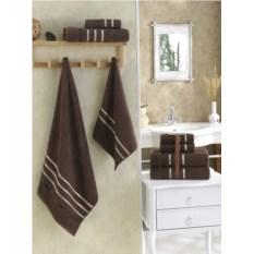 Комплект полотенец Karna Bale (цвет: коричневый, 4 штуки)