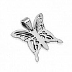 Кулон из стали в виде бабочки Spikes