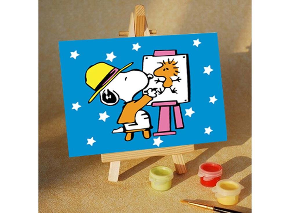 Картины по номерам «Снупи художник»