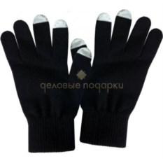Черные мужские перчатки для работы с сенсорными экранами