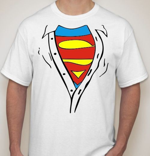 Мужская футболка Супермен, под рубашкой