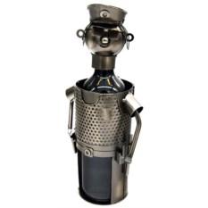 Металлическая подставка для бутылки Полицейский на службе