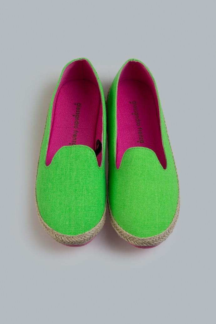 Женские лоферы Сплэш, зеленые