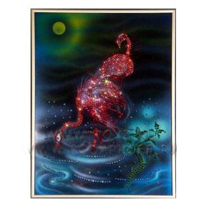 Картина с кристаллами Swarovski «Фламинго»