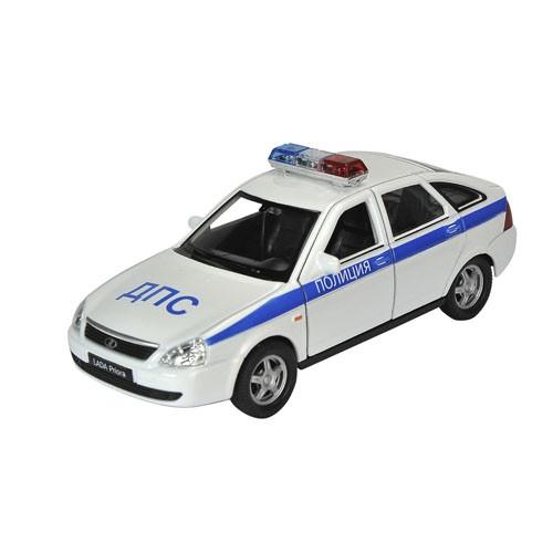 Инерционная машинка Welly 1:34-39 LADA PRIORA Полиция