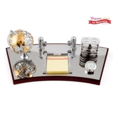 Настольный набор с часами Секретарь