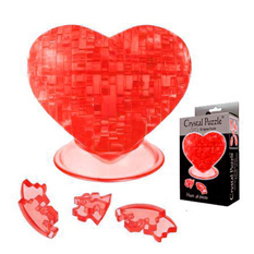 Головоломка 3D Crystal Puzzle «Кристальное Сердце», красная