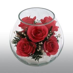 Живые цветы I love you