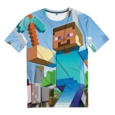 Мужская 3D-футболка Майнкрафт