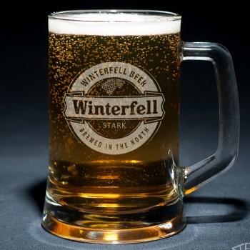Пивная кружка Winterfell с гравировкой