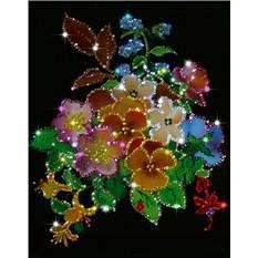Картина с кристаллами Swarovski Летний букет