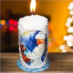 Новогодняя свеча «Дедушка Мороз и Снегурочка»