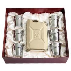 Штоф Канистра со стопками в подарочной коробке