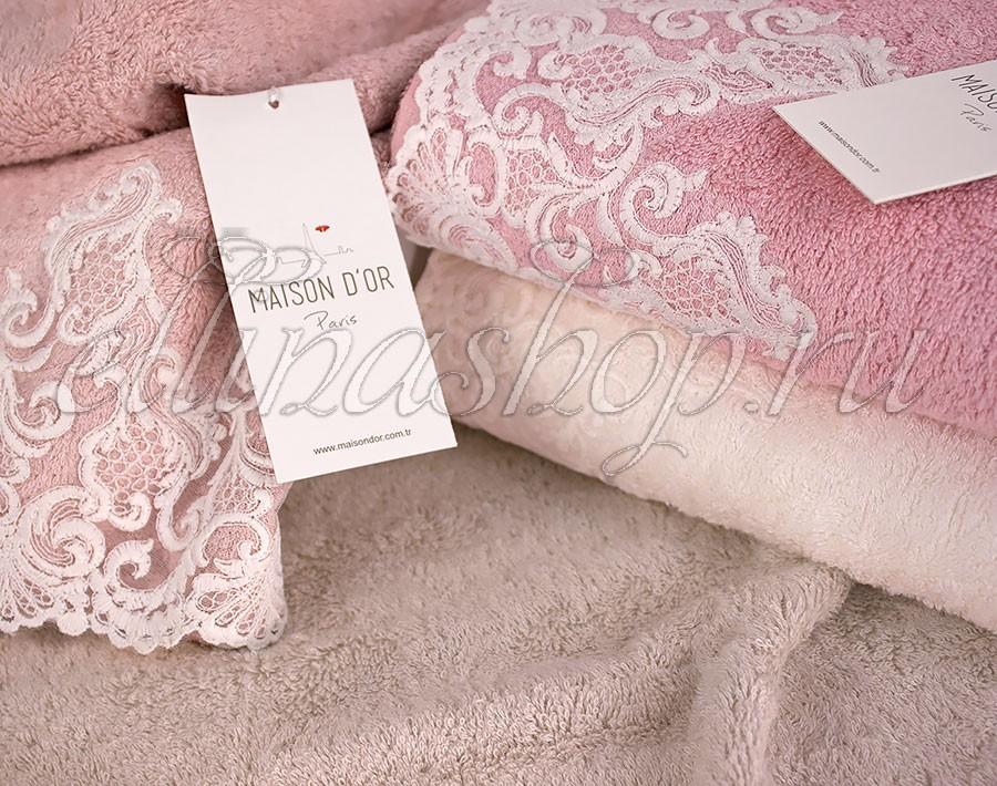 Комплект полотенец с кружевом Maison dor