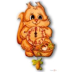 Часы настенные с маятником Белка