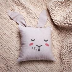 Декоративная льняная подушка с ушами Кроль Сплюша