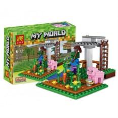 Конструктор Lele Minecraft Зомби и свинья