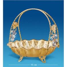Позолоченная конфетница с кристаллами Swarovski Виноград