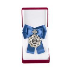 Большая медаль с синим бантом Лучший муж на свете