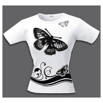 Футболка «Чёрные бабочки»