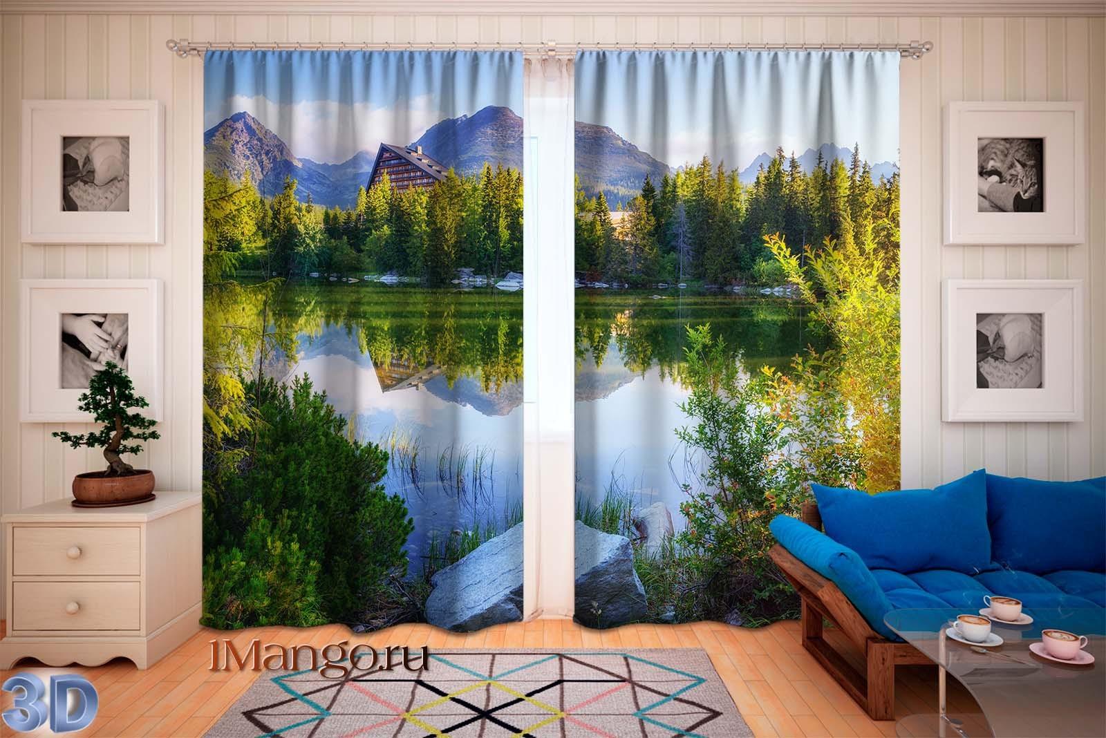 Фотошторы Величественные горные озера 2