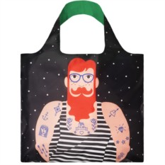 "Складная сумка Loqi Fashion ""Smoking Beard"""