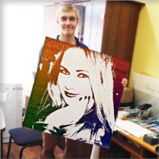 Поп-арт портрет по фото