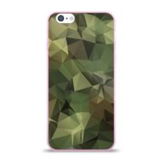 Силиконовый глянцевый чехол для Apple iPhone 6 Камуфляж