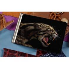 Зажим для денег с принтом Профиль леопарда