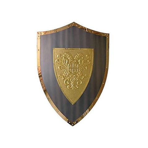 Щит темный с золотом «Двуглавый орел»