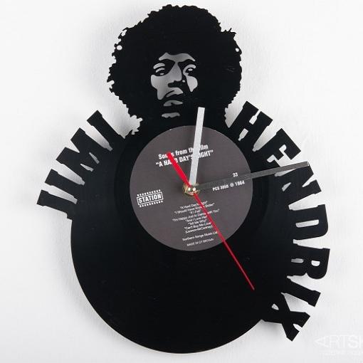 Часы из виниловой пластинки  Джими Хендрикс