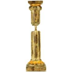 Подсвечник с росписью золотой краской Колонна