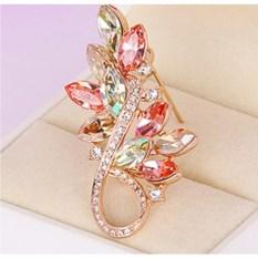 Брошь с кристаллами Swarovski Золотая осень