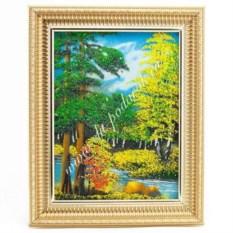 Картина из каменной крошки в багете Пейзаж (15х20 см)
