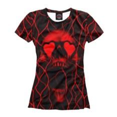 Женская футболка Влюбленный череп