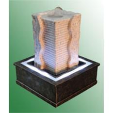 Настольный фонтан с помпой Волнистая пирамида