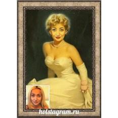 Печать портрета по фото на холсте в подарок