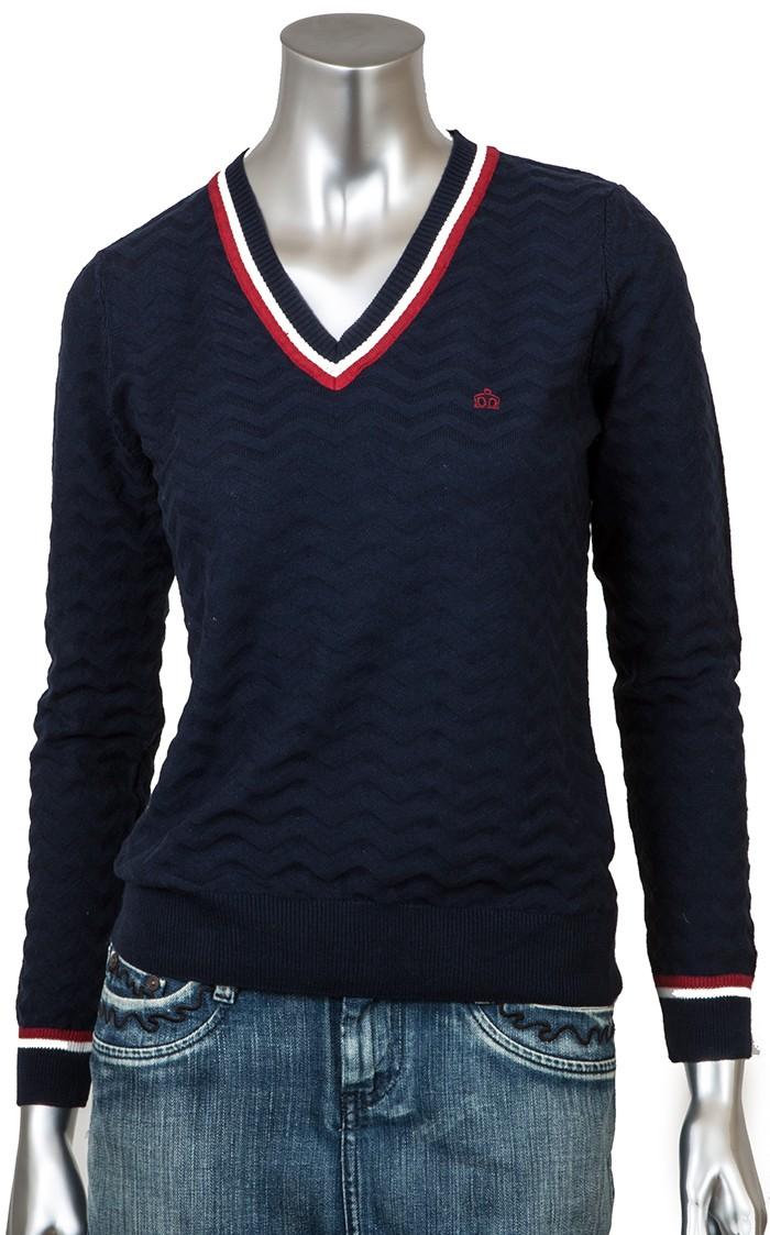 Merc Rossi Пуловер Женский темно-синий