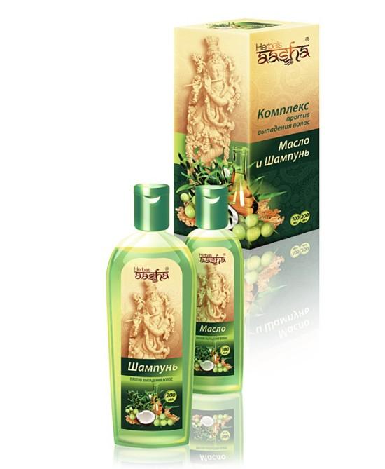 Комплекс против выпадения волос (масло+шампунь) Aasha